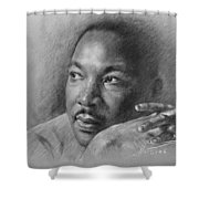 Martin Luther King Jr Shower Curtain by Ylli Haruni