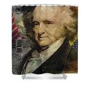 Martin Van Buren Shower Curtain by Corporate Art Task Force