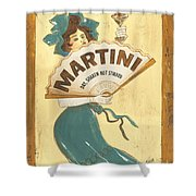 Martini Dry Shower Curtain by Debbie DeWitt