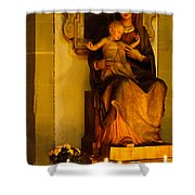 Mary And Baby Jesus Shower Curtain by Syed Aqueel