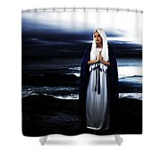 Mary By The Sea Shower Curtain by Cinema Photography
