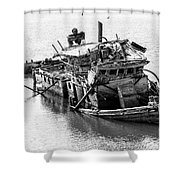 Mary D Hume Shipwreck - Rogue River Oregon Shower Curtain by Gary Whitton