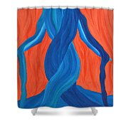 Mary - Mother Of Earth - Mother Of Light Shower Curtain by Daina White