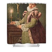 Mary Queen of Scots Shower Curtain by Sir James Dromgole Linton
