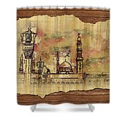 Masjid E Nabwi Sketch Shower Curtain by Catf