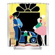 Masked Ball Shower Curtain by Brian James