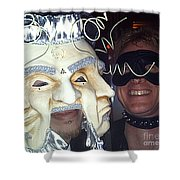 Masquerade Masked Frivolity Shower Curtain by Feile Case