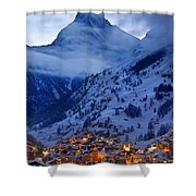 Matterhorn At Twilight Shower Curtain by Brian Jannsen