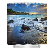 Maui Dawn Shower Curtain by Inge Johnsson