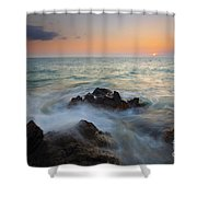 Maui Tidal Swirl Shower Curtain by Mike  Dawson