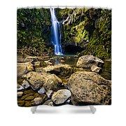 Maui Waterfall Shower Curtain by Adam Romanowicz