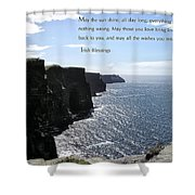May the Sun Shine all Day Long Shower Curtain by Jerry Cannon