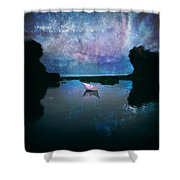 Maybe Stars Shower Curtain by Stylianos Kleanthous