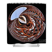 Maze Of Steel Shower Curtain by Kaye Menner