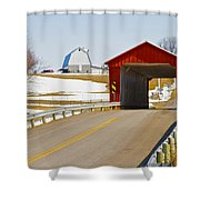 Mccolly Covered Bridge Shower Curtain by Jack R Perry