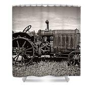 McCormick Deering 15-30 Shower Curtain by Debra and Dave Vanderlaan