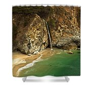 McWay Into The Pacific Shower Curtain by Adam Jewell