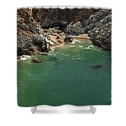 Mcway Into The Bay Shower Curtain by Adam Jewell