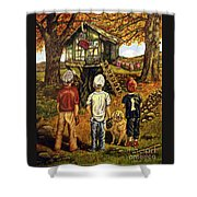 Meadow Haven Shower Curtain by Linda Simon