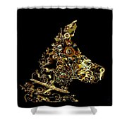 Mechanical - Dog Shower Curtain by Fran Riley
