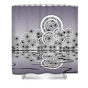 Mechanical Spirits Shower Curtain by Anastasiya Malakhova