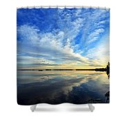 Meddybemps Reflections 4 Shower Curtain by Bill Caldwell -        ABeautifulSky Photography