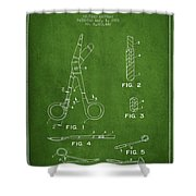 Medical Instruments Patent From 2001 - Green Shower Curtain by Aged Pixel