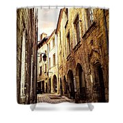 Medieval Street In Perigueux Shower Curtain by Elena Elisseeva