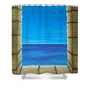 Meditation Shower Curtain by Pamela Allegretto