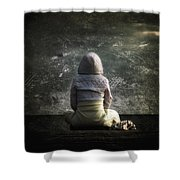 meditation Shower Curtain by Stylianos Kleanthous