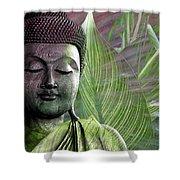 Meditation Vegetation Shower Curtain by Christopher Beikmann