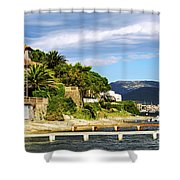 Mediterranean Coast Of French Riviera Shower Curtain by Elena Elisseeva