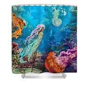 Medusa's Garden Shower Curtain by Mo T