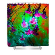 Medusas On Fire 5d24939 P128 Shower Curtain by Wingsdomain Art and Photography