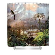 Meganeura In Upper Carboniferous Shower Curtain by Science Source