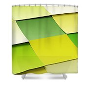 Memo Stickers Shower Curtain by Carlos Caetano