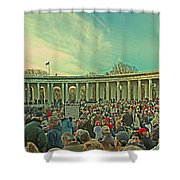 Memorial Amphitheater At Arlington National Cemetery Shower Curtain by Tom Gari Gallery-Three-Photography