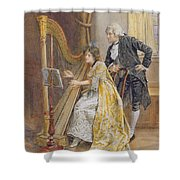 Memorys Melody Shower Curtain by George Goodwin Kilburne
