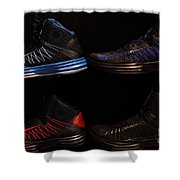 Men's Sports Shoes - 5D20654 Shower Curtain by Wingsdomain Art and Photography