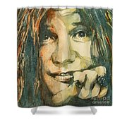 Mercedes Benz Shower Curtain by Paul Lovering