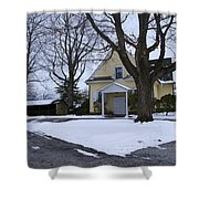 Merion Meeting House - Narberth Pa Shower Curtain by Bill Cannon