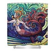 Mermaid Gargoyle Shower Curtain by Genevieve Esson