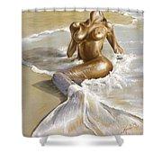 Mermaid Shower Curtain by Karina Llergo
