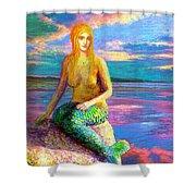 Mermaid Magic Shower Curtain by Jane Small