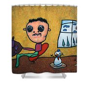 Merry Christmas Shower Curtain by James W Johnson