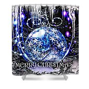 Merry Christmas Shower Curtain by Mo T