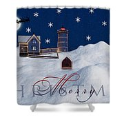 Merry Christmas Shower Curtain by Susan Candelario