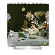 Merrymakers Shower Curtain by Charles Emile Auguste Carolus-Duran
