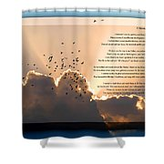 Message From Heaven Shower Curtain by Carolyn Marshall