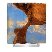 Metate Arch Sunset Shower Curtain by Dustin  LeFevre
